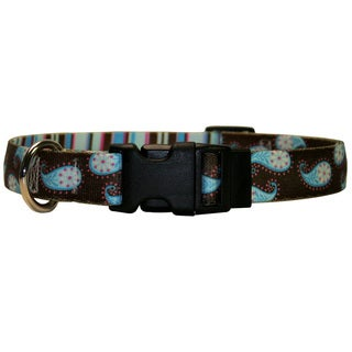 Red Haute Horse Brown Paisley Horse Collar