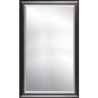 Grey with inner silver finish beveled wall mirror 25.25X41.25X1.00