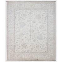 FineRugCollection Pakistan Peshawar Oriental Beige Wool Handmade Very Fine Beige Rug (8'x9'7)