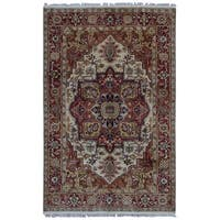 FineRugCollection Serapi Red Wool Handmade Oriental Rug