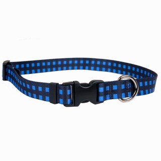 Red Haute Horse Buffalo Plaid Blue Horse Collar