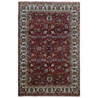 FineRugCollection Mahal Oriental Red/Beige Wool Handmade Area Rug (5'11 x 8'11)