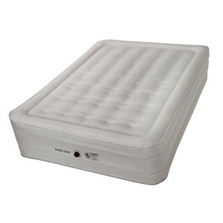 Insta-bed 14-inch Queen Airbed with NeverFLAT Fabric Technology and External AC Pump