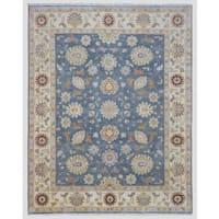 FineRugCollection Handmade Fine Peshawar Blue Wool Oriental Rug - 8' x 10'