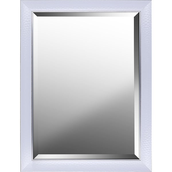 Beveled Wall Mirror hobbitholecom white gloss finish beveled wall mirror with hexagon