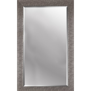 Crackled antique silver finish beveled wall mirror 26.50X42.50X0.63