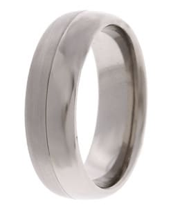 Men's Titanium 7mm Satin and Polish Band (7 mm) - Thumbnail 1