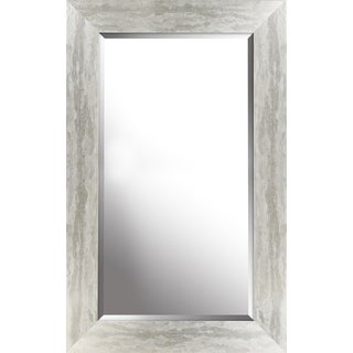 Antique silver finish beveled wall mirror 26.50X42.50X0.75