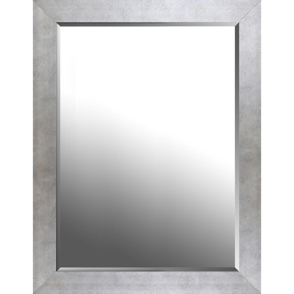 Champagne silver finish beveled wall mirror 26.50X34.50X0.75