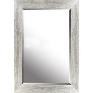 Antique silver finish beveled wall mirror 22.50X34.50X0.75