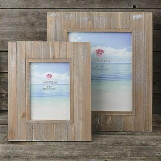 Distressed Wide Border Wood Frame Set of 2