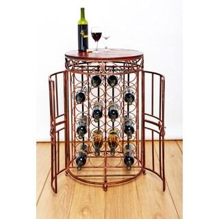 Old Dutch Russian River Copper Metal 24-bottle Wine Jail