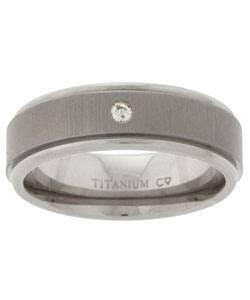 Mens Titanium Diamond Wedding Band 68