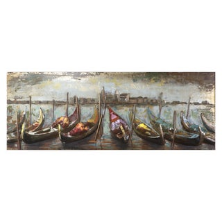 Yosemite Home Decor Wooden Boats Canvas Wall Art