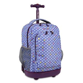 J World New York Sunny Stardust Rolling Backpack