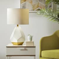 Urban Habitat Facet White/ Gold Table Lamp