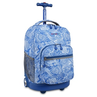 J World New York Sunrise Wave Rolling Carry On Backpack