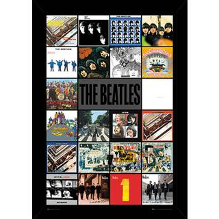 The Beatles Albums Poster With Choice of Frame (24x36)
