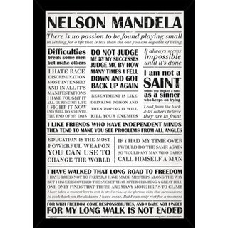 Nelson Mandela Quotes Poster With Choice of Frame (24x36)