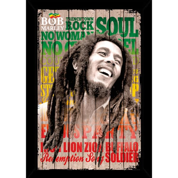 Shop Bob Marley Laugh Poster With Choice of Frame (24x36) - Free ...