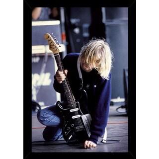 Kurt Cobain Guitar Poster With Choice of Frame (24x36)