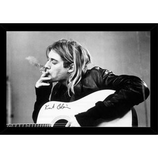 Kurt Cobain Smoking Poster With Choice of Frame (24x36)