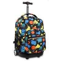 J World New York Sunrise Splatter Rolling Carry On Backpack