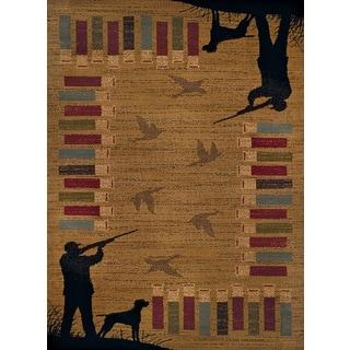 Harmony Bird Hunt Gold Runner Rug (1'10 x 7'2)