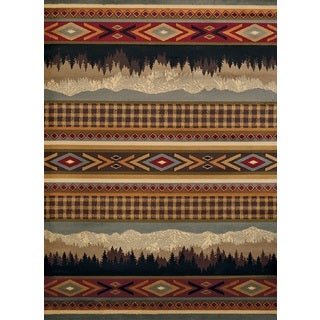 Harmony Distant Mountains Multi Lodge Runner Rug (1'10 x 7'2)