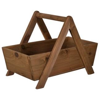 """20.5x11.5x14.5"""" Wood Storage Basket"""