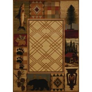 Harmony Evergreen Lake Natural Lodge Area Rug (5'3 x 7'2)