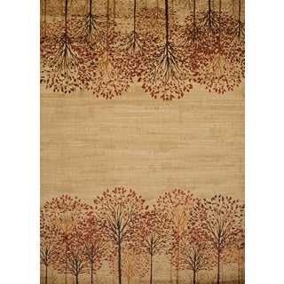 Harmony Tree Line Natural Accent Rug (1'10 x 3')