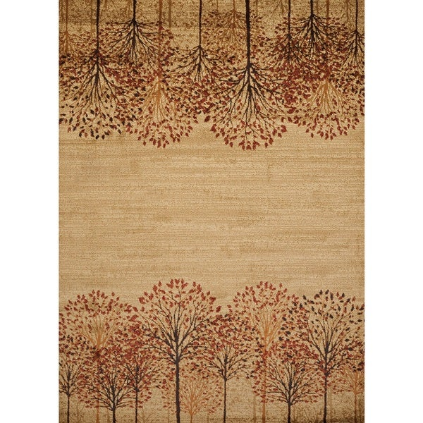 harmony tree line natural area rug (5'3 x 7'2) - free shipping