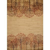 Harmony Tree Line Natural Area Rug - 7'10 x 10'6
