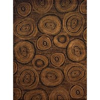 Pine Canopy Cherokee Brown Rustic Area Rug - 5'3 x 7'2