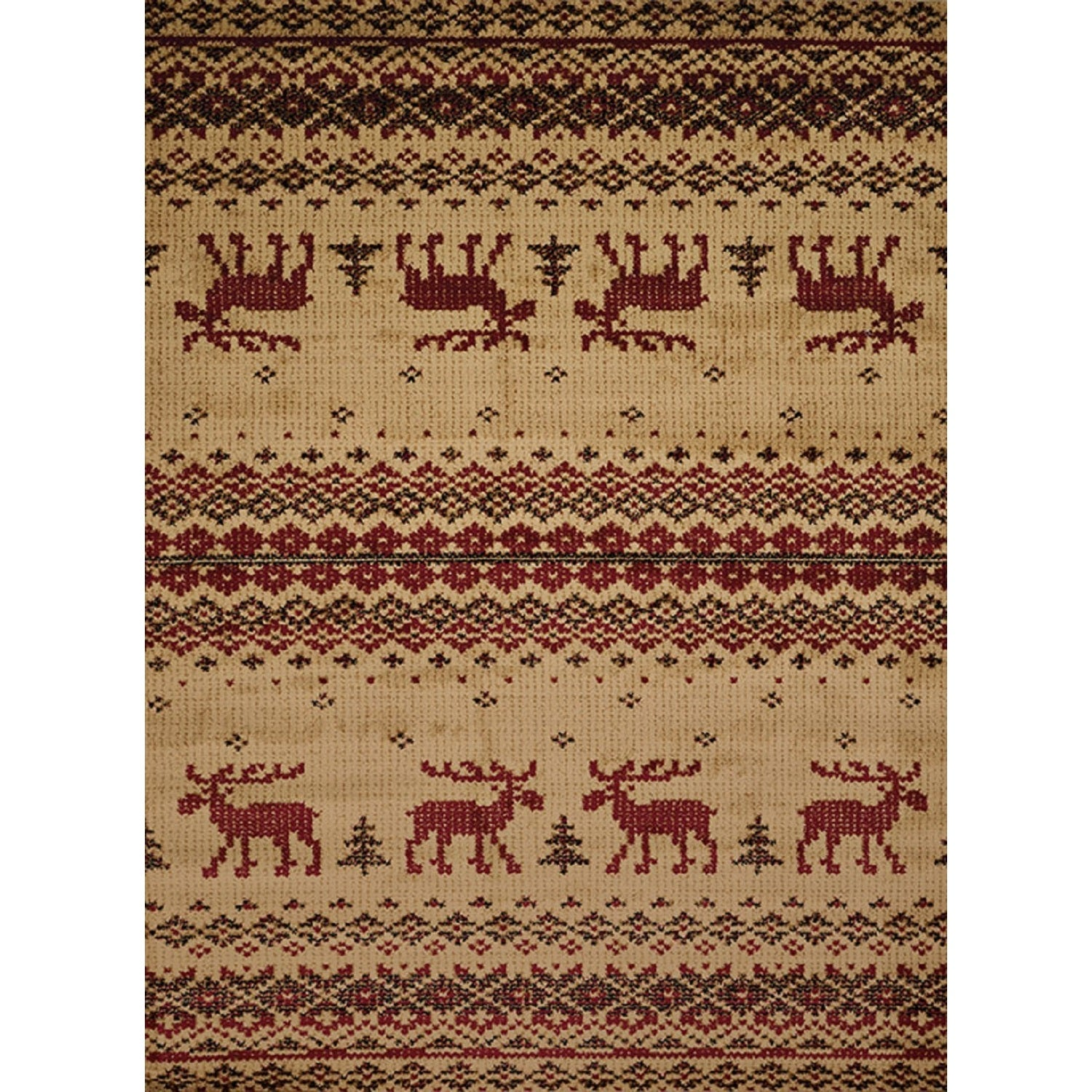 Westfield Home Harmony Walking Moose Natural Lodge Accent...
