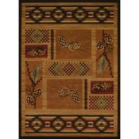 Pine Canopy Boise Pinecone Runner Rug - 1'10 x 7'2