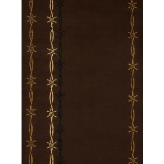 Harmony Sharp Wire Brown Rustic Runner Rug (1'10 x 7'2)