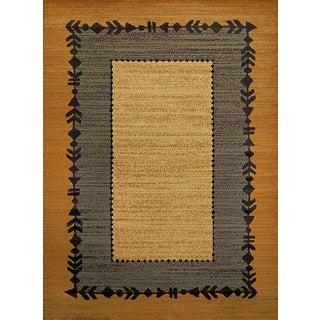 Harmony Simple Folklore Multi Lodge Runner Rug (1'10 x 7'2)