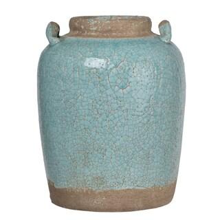 Candia Turquoise Ceramic Vintage-style Vase