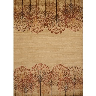 Harmony Tree Line Natural Runner Rug (1'10 x 7'2)