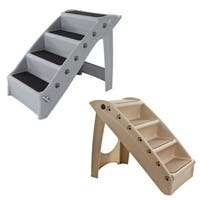 Petmaker Folding Indoor or Outdoor 4-Step Pet Stairs