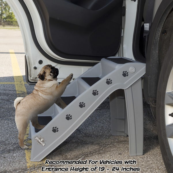 Petmaker Folding Indoor Or Outdoor 4 Step Pet Stairs