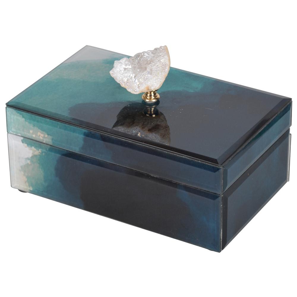 Bethany Green Medium 8.5-inch x 5-inch x 5-inch Box
