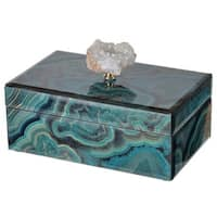 Bethany Blue Wood Marbled Decorative Box