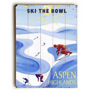 Ski The Bowl - Wood Wall Decor by Posters Please