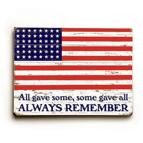 Always Remember Flag - Wall Decor by Artehouse