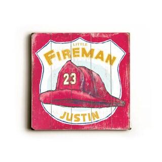 Little Fireman - Wood Wall Decor by FLAVIA - multi