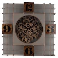 Menifee Iron/Plastic Wall Clock