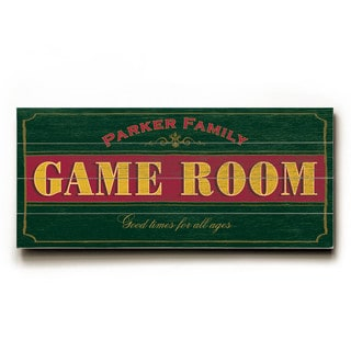Game Room - Wood Wall Decor by FLAVIA
